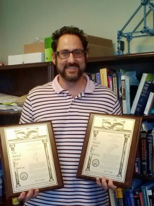 Dr. Matthew Rickard with his latest patents