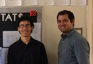 From left: Benjamin David Knisley and Dr. Ricardo J. Cordero-Soto