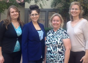 From left: Denise Bokman, Lisa Weeks, Dakota Mattson and Tawnee Ortiz