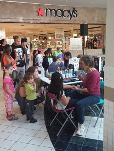 Participants had the opportunity to get free face painting.