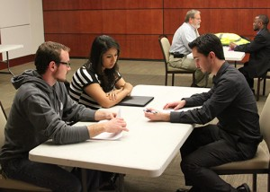 Students were able to practice interview skills with professional engineers.