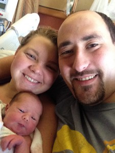 Michael and Breanna Jewell with Joelle
