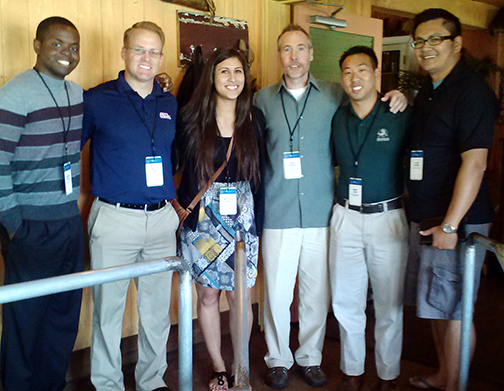 From left: Anthony Francis, CBU; Tim Lanski, University of Mississippi; Tina Galinato, University of California, Davis; Dr. David Pearson; Brian Chan, intern at California Poly Pomona; and Aldee Winter, University of California, Irvine