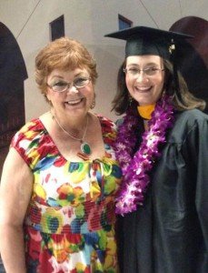 Mary Davidson (right) with her mother, Pam Pryfogle, adjunct professor for Online and Professional Studies