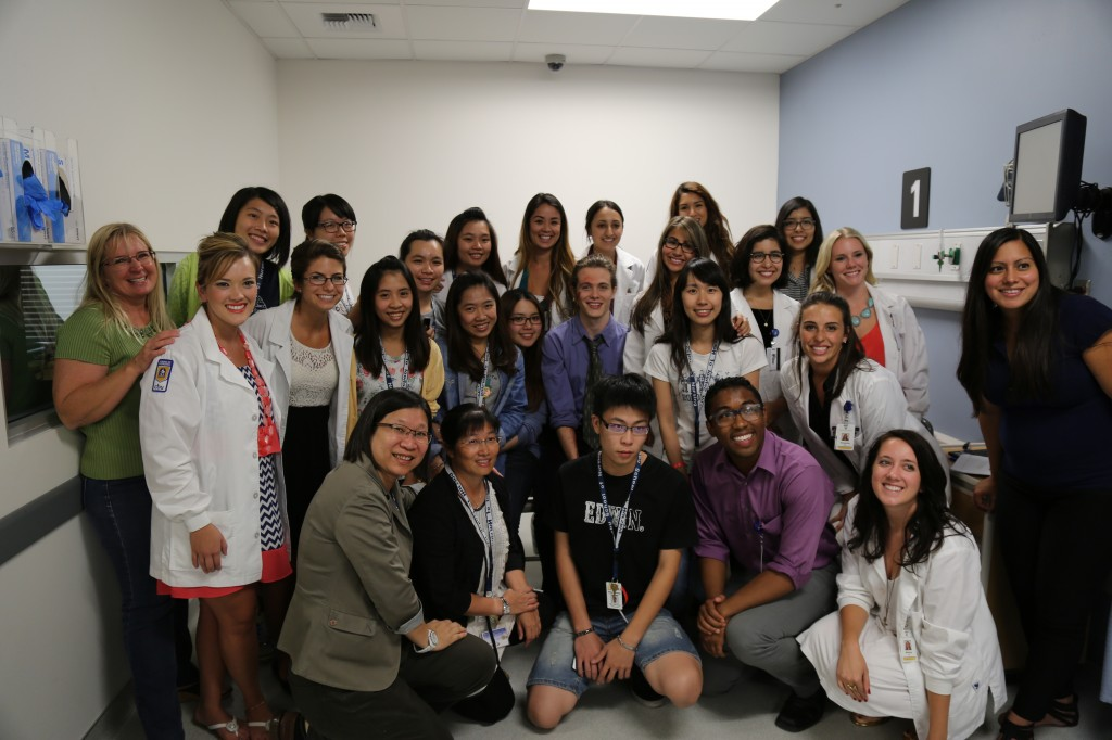 Nursing students from Taiwan pose with CBU nursing faculty and students