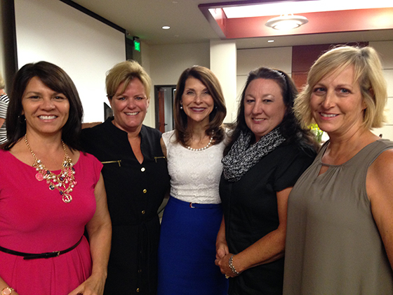 From left: Lupe Solano, Terry Couch, Pam Tebow, Jane Ellis and Daphne Paramo