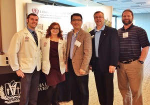 From left: Chris LaPoint ('12); Alexandra Taylor ('13); Dr. Hyun-Woo Park, Dr. Wayne Fletcher and Dr. Nathanael Heyman