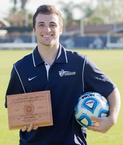 Jake Zalesky, a senior public relations major, won a national award for a story written as an sports information intern.