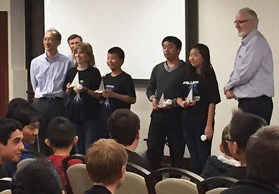 The top ranking students at Mathcounts are honored at an awards ceremony at the conclusion of the event.