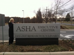 Dr. Candace Vickers at ASHA headquarters