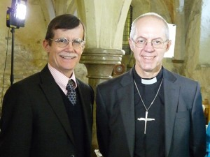 Dr. Douglas Barnett with Archbishop Justin Welby