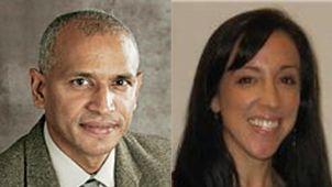 Dr. Dennis K. Bideshi and Kelli Welzel