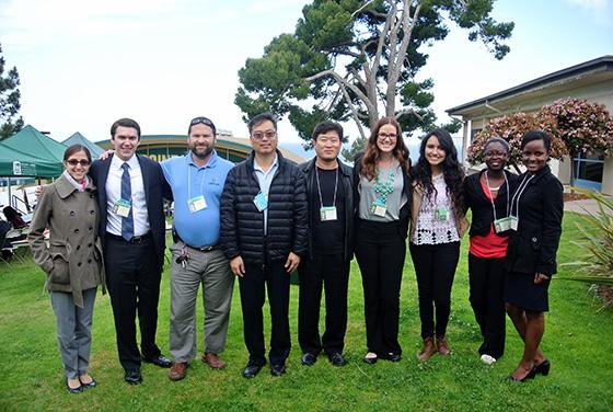 From left: Cecily Dussel, Scott Sandy, Dr. Nathanael Heyman, Dr. Daniel Szeto, Dr. Bonjun Koo, Brittany Appleby, Amairani Villa, Gisele Shema, Daniella Munezero
