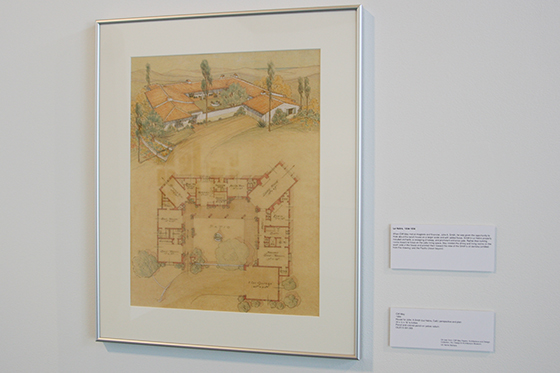 The exhibit at the CBU Gallery features drawings and photographs from the collection of Cliff May, a renowned architect.