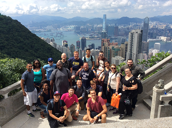 MBA students traveled to Hong Kong and Korea as part of their Global Business Management class.
