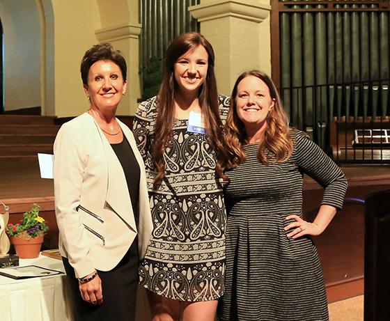 From left: Debbi Guthrie, Ashley Hoppes, Dr. Natalie Winter